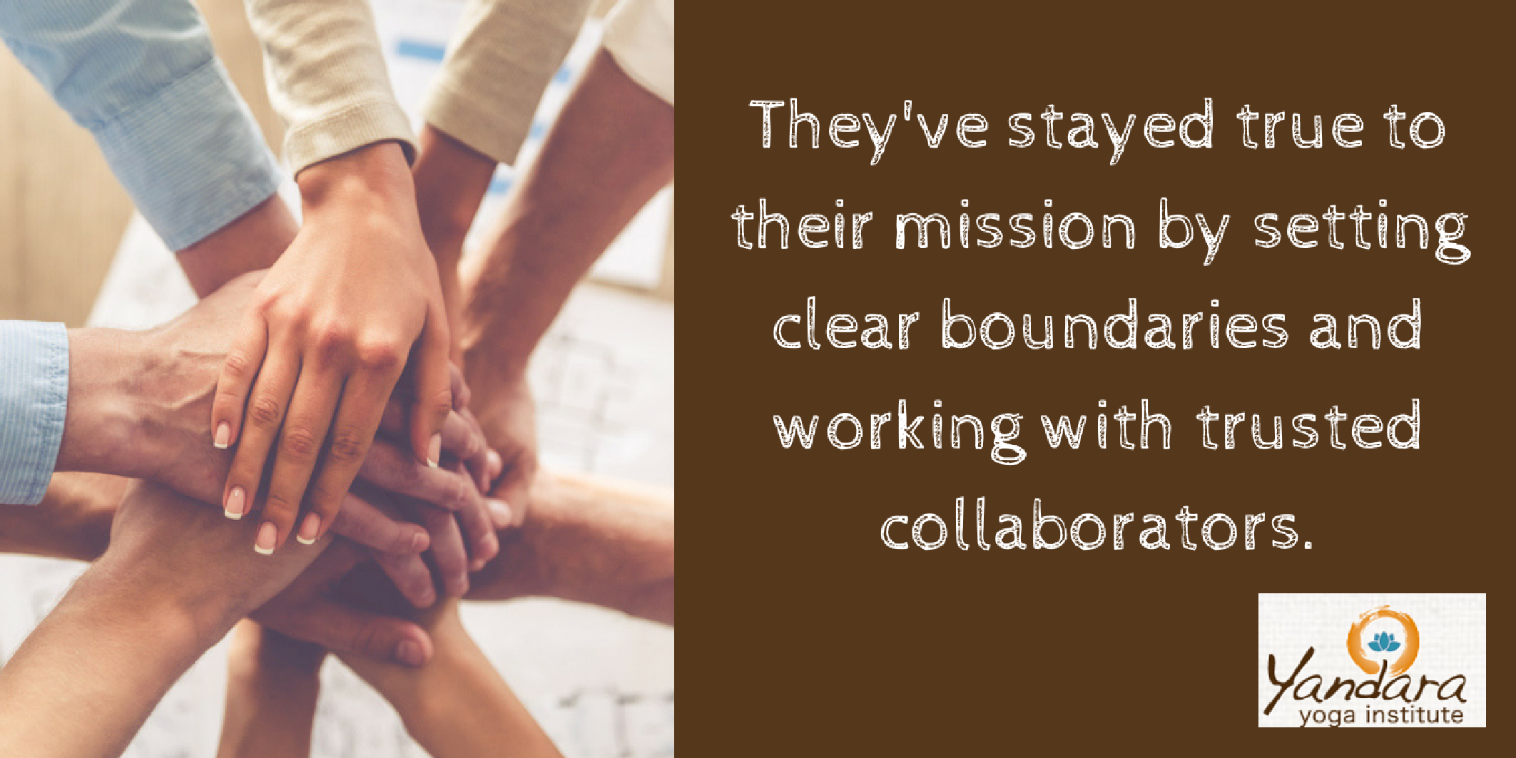 Yoga Trade works with trusted collaborators.